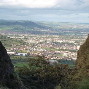 Ausblick vom Cavehill auf Belfast