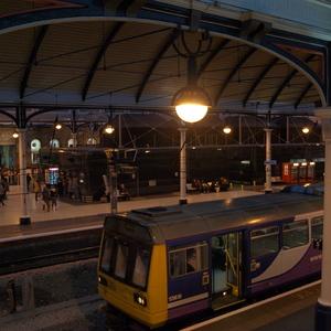 Im Bahnhof von Newcastle