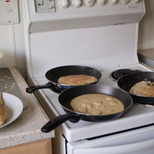 Pancakes im Akkord