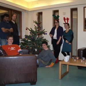 Weihnachtsbaum im Wohnheim