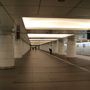 One tunnel that's part of the vast underground network that is the Tokyo central station