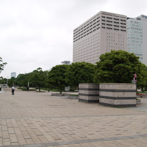 The area around the hotel (Ariake) and the weather that greeted me