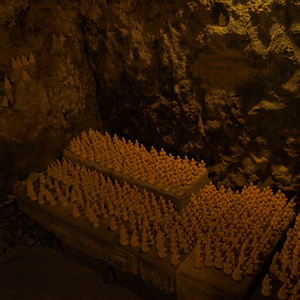 The Benten-kutsu cave on the Hase-dera grounds with miniatures